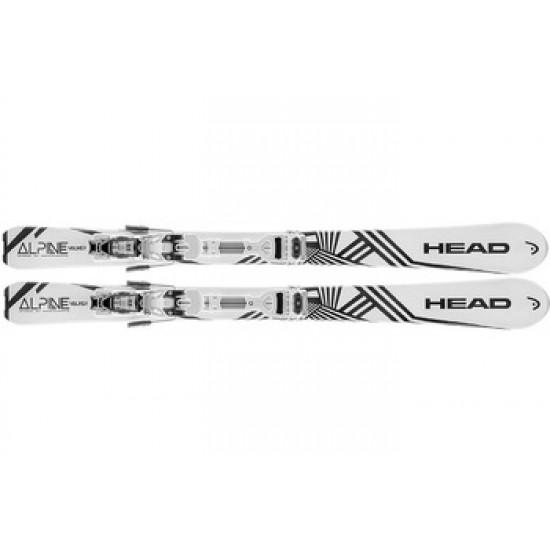 Комплект Alpine Walker + Ambition 10 premounted (горные лыжи+крепления гл) white/black