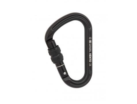 Карабин «Большой» с муфтой keylock, цвет черный (ЕАС, CE, UIAA) Vento