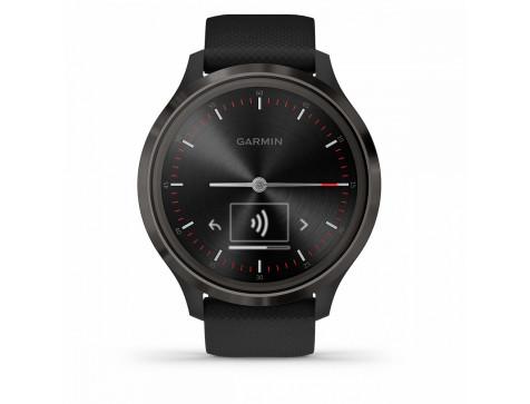 Спортивные часы Garmin vivomove 3, S/E EU, Slate, Black, Silicone (010-02239-21)