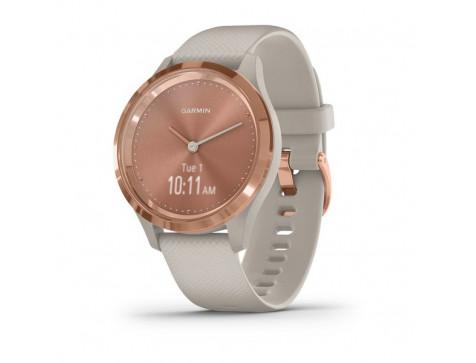 Спортивные часы Garmin vivomove 3S, S/E EU, Rose Gold, Light Sand, Silicone (010-02238-22)