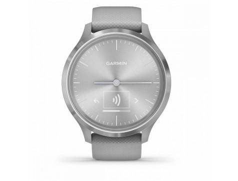 Спортивные часы Garmin vivomove 3, S/E EU, Silver, Powder Gray, Silicone (010-02239-20)